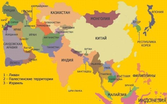 География для детей Азия