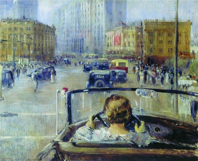 Автомобиль в живописи - Пименов